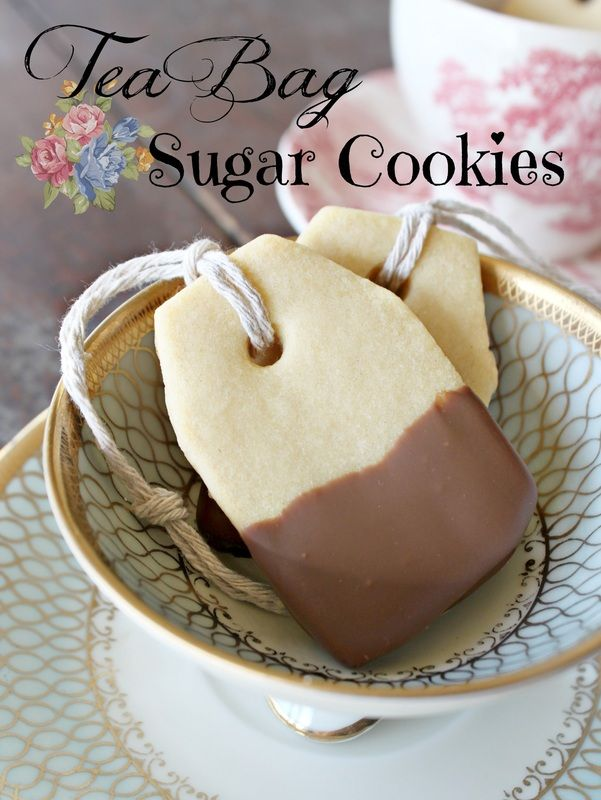 Beautiful tea bag sugar cookies