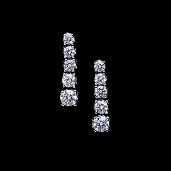 Pendientes de diamantes de Novia en oro blanco