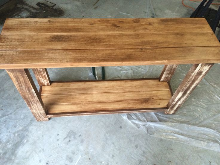 In Process Of Staining And Sanding. Many Hours Go Into This! Hand Built By  TampaRetroStuff