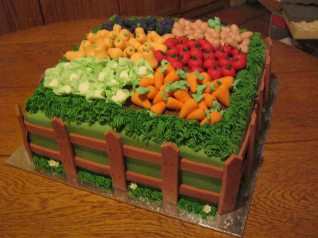17 best ideas about vegetable garden cake on pinterest for Veggie patch ideas