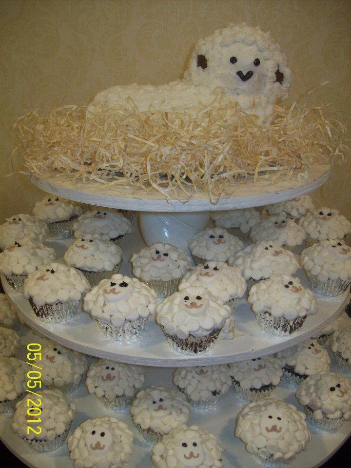 Sheep Baby Shower Cake And Cupcakes Baby Shower
