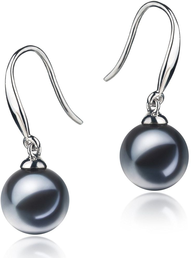 PearlsOnly - Yoko Black 7-8mm AAAA Quality Freshwater 925 Sterling Silver Cultured Pearl Earring Pair * Check out this great product. (This is an affiliate link) #JewelryDesign