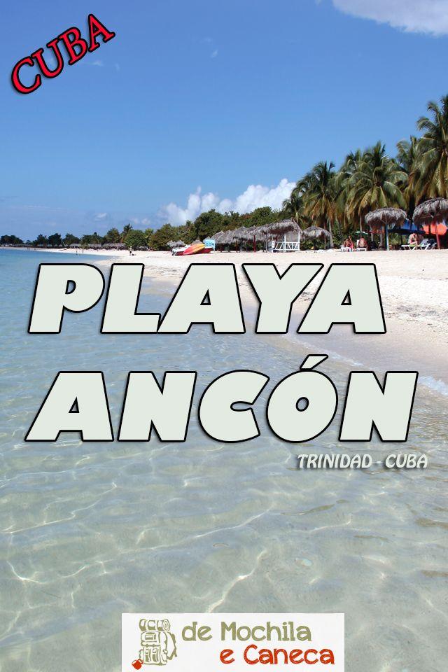 Com aproximadamente 5 km de extensão, a praia de areia fina e branca possui águas de coloração azul turquesa, tranquilas como uma piscina! A paisagem é de cair o queixo e não é à toa que a Playa Ancon é considerada como a praia mais bonita da costa sul cubana!