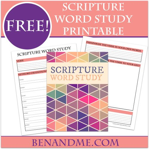 How to do a Scripture Word study with your kids (and a free printable study tool). #Bible #Wordstudy #homeschool