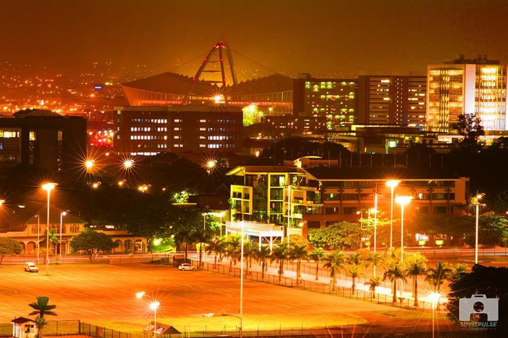 A beautiful night time image of Durban