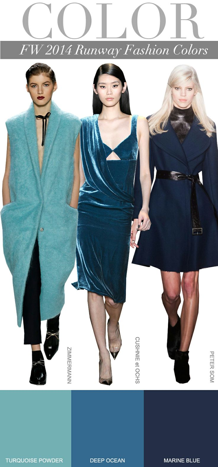 Future fashion trends 2014 - Trend Council Fw 2014 Runway Colors