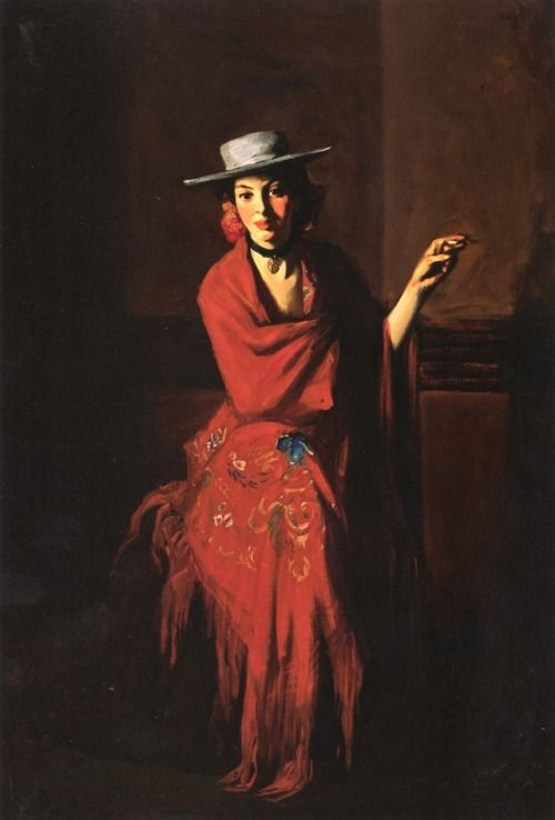 Robert Henri- Spanish dancer with cigarette, 1904