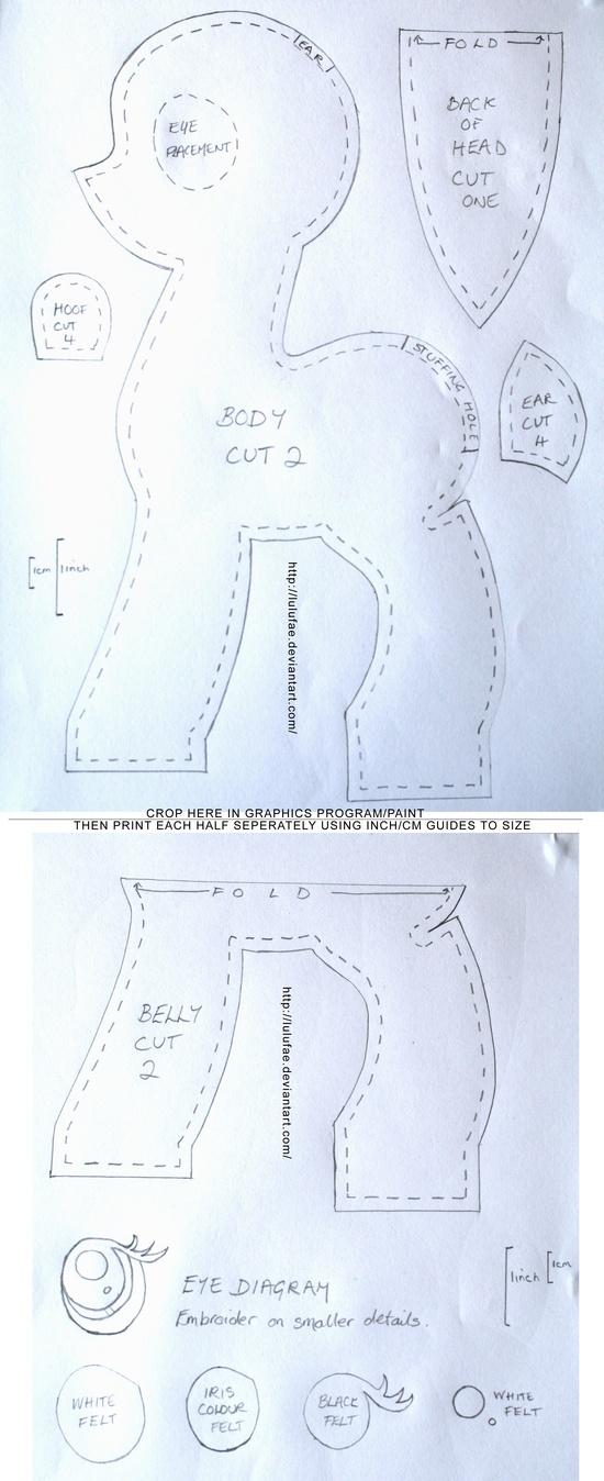 pony plush pattern @ Do It Yourself Pins