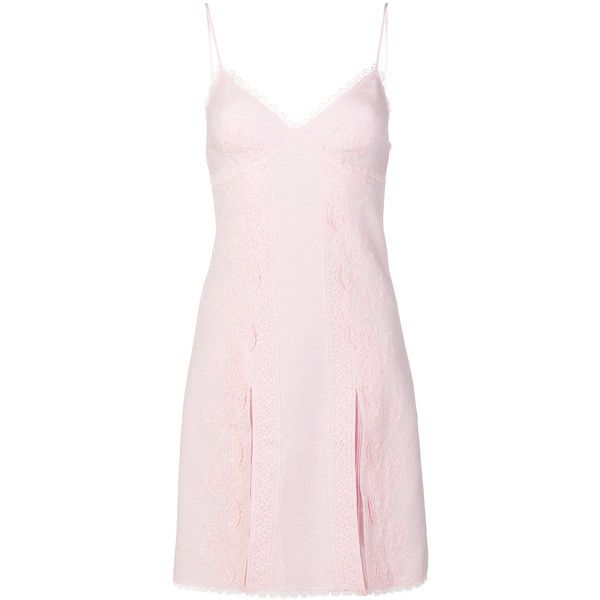 Ermanno Scervino lace lingerie dress ($3,310) ❤ liked on Polyvore featuring dresses, pink, pale pink dresses, lace dress, pale pink lace dress, pink lace dresses and ermanno scervino