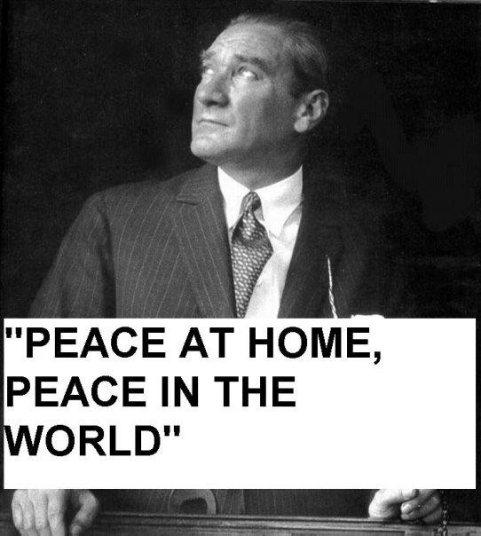 Peace at home, peace in the world !