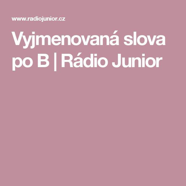 Vyjmenovaná slova po B   Rádio Junior