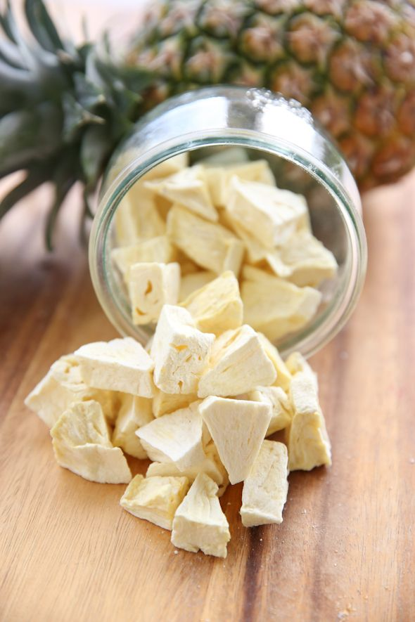 Freeze-Dried Pineapple, at home!!  My favorite new machine!