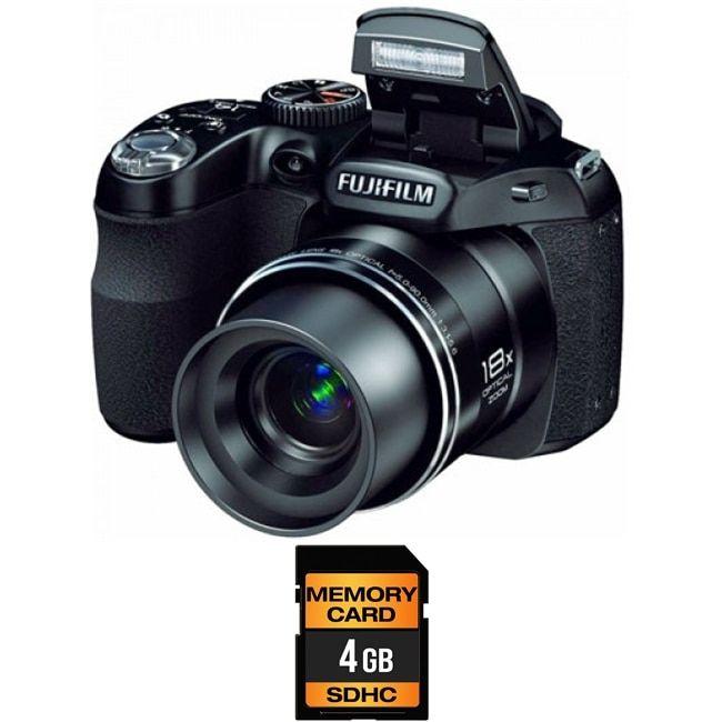 FujiFilm FinePix S2980 14MP Bridge Digital Camera 4GB Bundle
