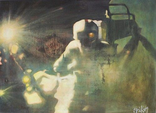 Joby Hickey #Astronaut #irishart #painting #space #lensflare