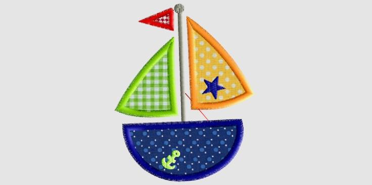 Cute Sailboat Applique