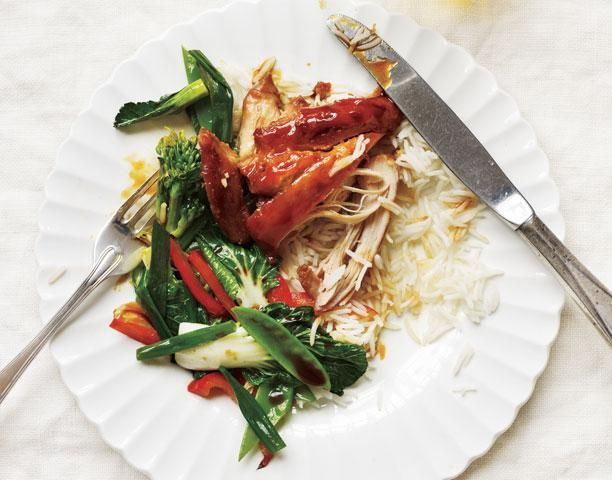 Slow-Cooker Soy-Glazed Chicken With Stir-Fried Vegetables recipe