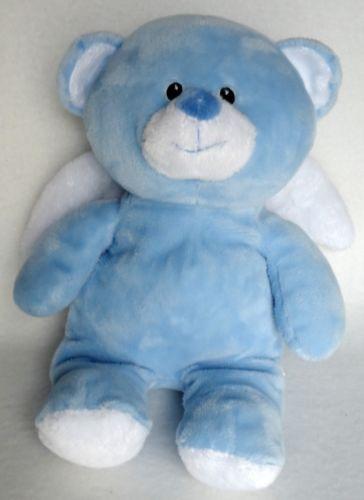 Ty pluffies blue bear little angel baby plush stuffed