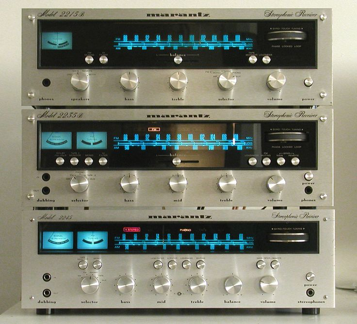 Vintage Marantz with Gyro-Touch Tuning - gorgeous design. Today they are nothing but black boxes!!