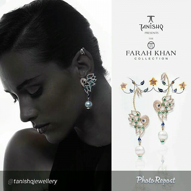 """One of my favourites in #theFarahKhancollection  for Tanishq  By @tanishqjewellery """"Graceful, elegant and glamorous, the #TanishqxFarahKhan Collection is a range of fine jewelry inspired by Persian art and architecture."""" via @PhotoRepost_app"""