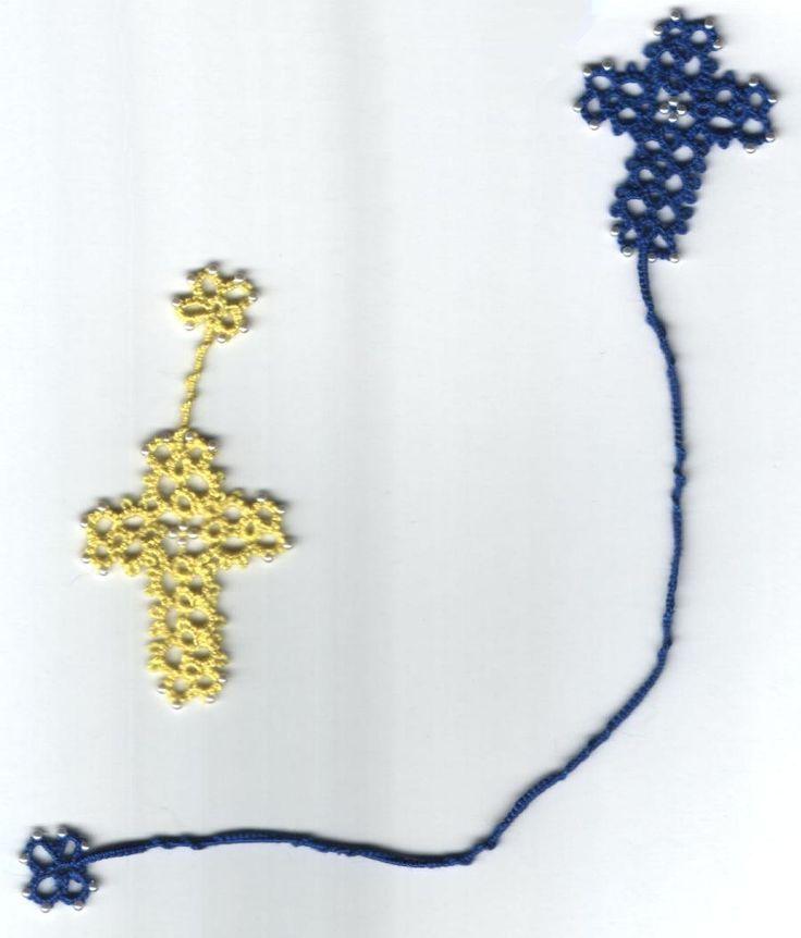 Small Crosses bookmark, quick and easy gift idea