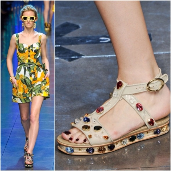 Dolce and Gabbana S/S 2012 DIY Sandal Inspiration from Glitter N Glue
