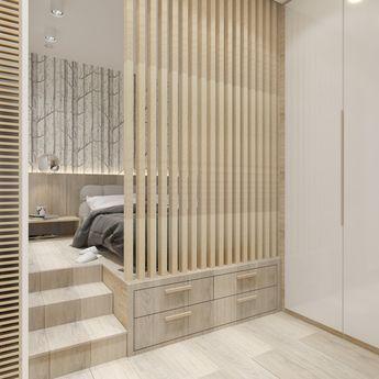 Заказчики хотели, чтобы в небольшой однокомнатной квартире была и полноценная кухня, и удобная спальня, и рабочее место. Посмотрим, как дизайнер Анна Швец выполнила их пожелания