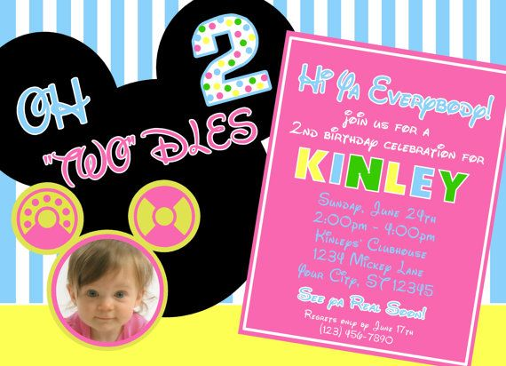 5 x 7 Digital File Pink Oh Twodles by Keatoncreations on Etsy, $10.00