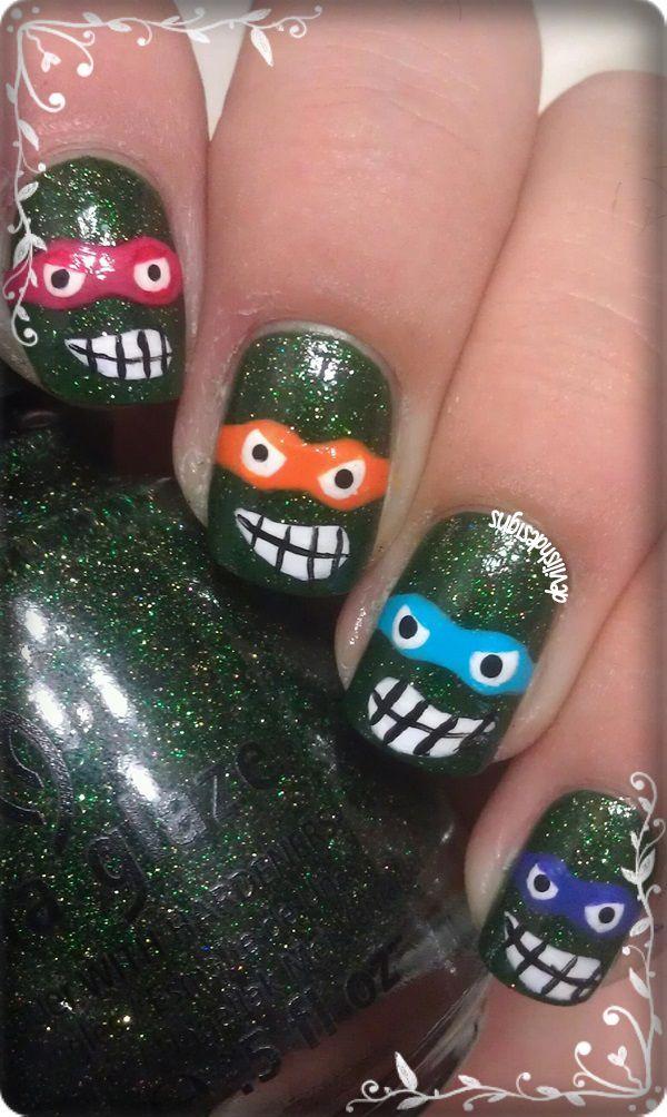 187 best Nails: Super Hero images on Pinterest   Nail nail, Ninja ...