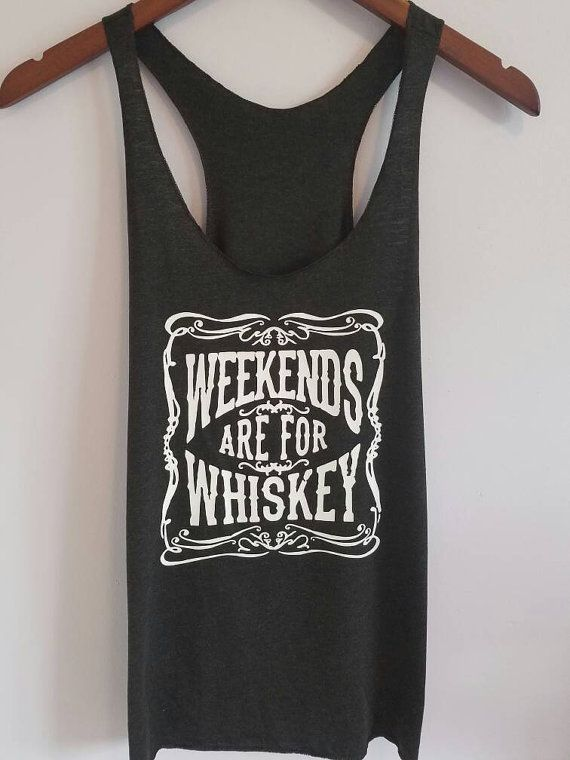 Weekends Are For Whiskey Tank top. Country tank by SouthernCharme