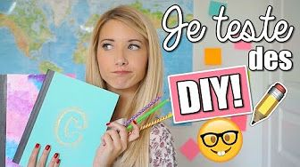 JE TESTE DES DIY PINTEREST | BACK TO SCHOOL 2016 - YouTube