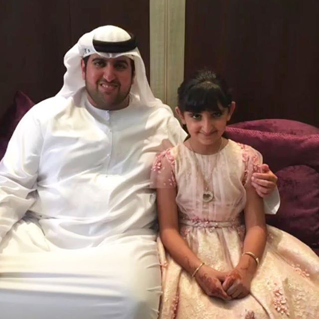 Saeed bin Hamdan bin Rashid Al Maktoum y Hind bint Saeed bin Dalmook Al Maktoum, 06/07/2016. Vía: latifaalmaktoum