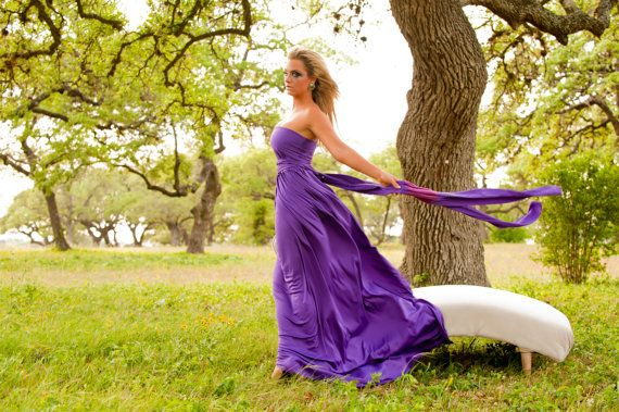 """Glamorous Bridesmaids Gowns - Full, fabulous, flowing """"Infinity"""" style gowns available in hundreds of colors"""