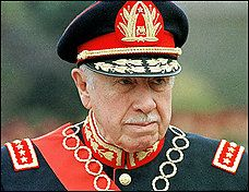 Pinochet, shown here in 1998, suffered a heart attack a week ago and underwent an angioplasty.