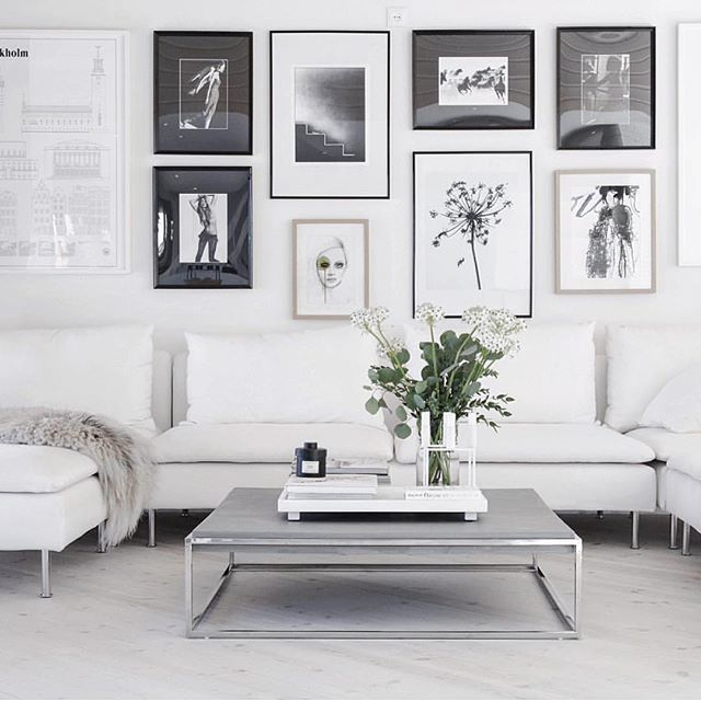 Make a statement wall with various size picture frames. theguideonline.com.au