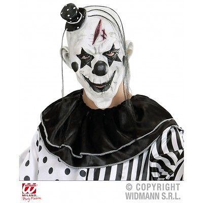 Noir-Blanc-Tueur-masque-de-clown-avec-mini-chapeau-pour-le-mal-Halloween-Deguisements-acc
