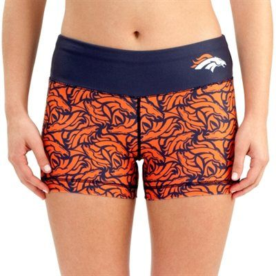 Women's Denver Broncos Orange Thematic Print Shorts