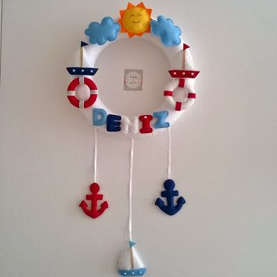 Denizci temalı kapı süsü