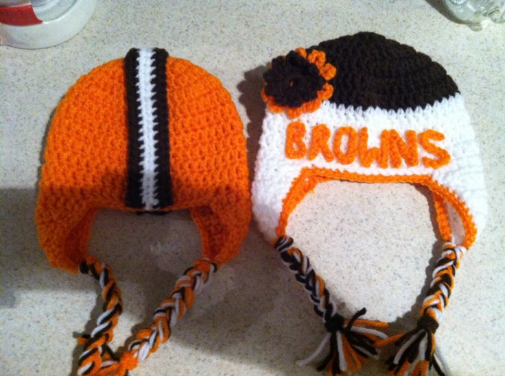 Cleveland Browns Crochet Hats For Boy And Girl Crochet