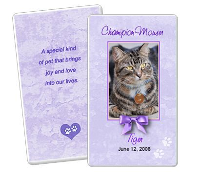 19 best Pet Memorials Templates images on Pinterest Card patterns - memorial card templates microsoft word