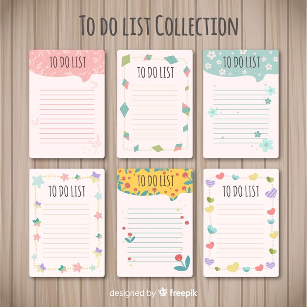 Modern To Do List Collection With Lovely Premium Vector Freepik Vector Template Educa Planner Scrapbook Bullet Journal Ideas Pages Colorful Stationery