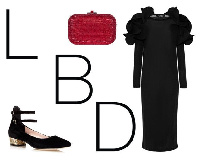 """LBD"" by ralugoii on Polyvore featuring Junya Watanabe, Kate Spade and Judith Leiber"