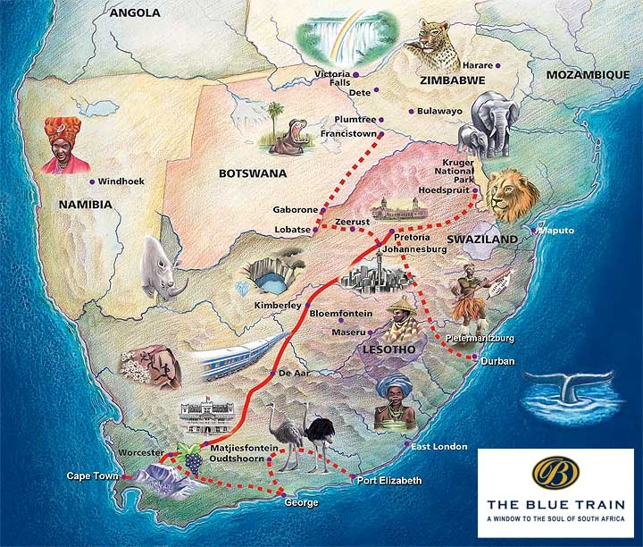 """""""The Blue Train"""" one of the most luxury trains in the world #SouthAfrica"""