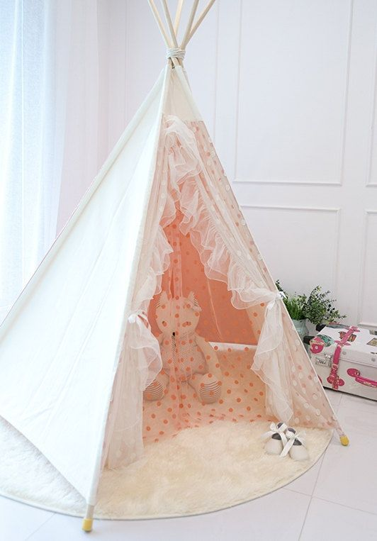 Pink Lace Teepee Tent Play Tent By Goodhapy On Etsy 200