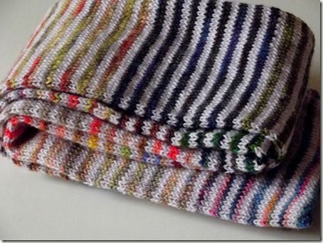 Striped Leftovers Scarf - what a great idea for all those leftover bits of yarn!