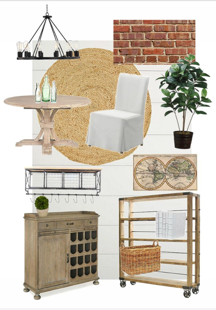 Industrial Farmhouse Dining Room Design Plan - One Room Challenge { Week One}