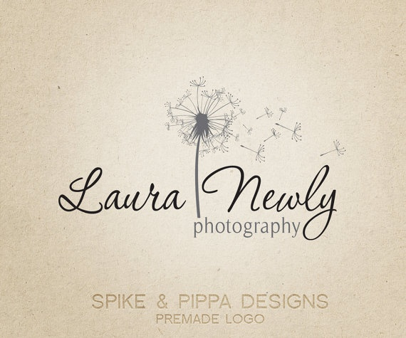 Premade Logo and Watermark for Photographers and by SpikeandPippa, $12.00