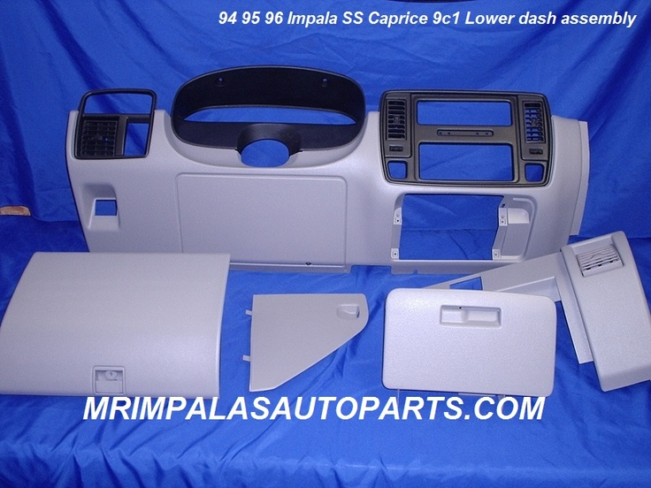 94 95 95 Impala SS Lower dash bezel set reconditioned    One used original GM Lower dash bezel set from a 95 Caprice in gray.