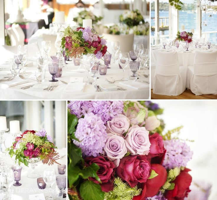 Clean, modern white palette with pops of bright pinks, rich reds and fresh greens to add a slightly boho feel. Classic and romantic wedding reception styling, ideas and inspiration.  Reception Venue: Mosman's Restaurant  Photography by DeRay & Simcoe  Styling by Touched by Angels