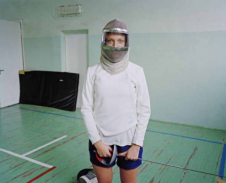 Sasha Rudensky, Eastern Eve, Anya in a Fencing Mask