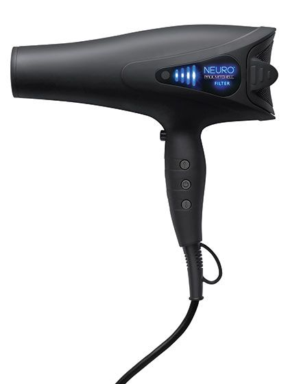 Paul Mitchell Neuro Dry This dryer has a fancy LED display to show heat and power settings, but that's not even the most impressive thing about it. One tester with a medium-thick lob was able to dry her hair in five minutes and 40 seconds. Another loved that even the highest heat setting didn't scorch her fine hair. The icing on the blowout cake? It has a rubbery matte finish that doesn't just look cool—it's also functional, protecting the dryer if you drop it.